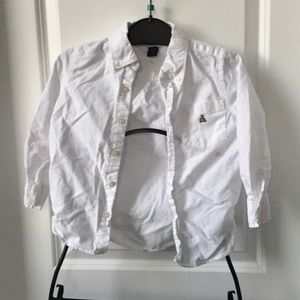 Boys Size 4 Baby Gap White Button Up Shirt